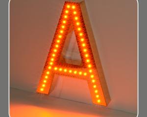 Объемные буквы с открытой подсветкой